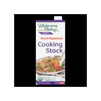 USDA Organic Beef Flavored Cooking Stock with new easy to open cap, no pull tab