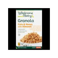 A blend of whole grain rolled oats & wheat and almonds, sweetened with brown sugar and  honey. Good source of fiber. No artificial preservatives, no artificial flavors.