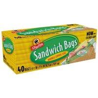 ShopRite Double Zipper Seal Sandwich Bags, 6.5 x 5.9 in, 40 Each