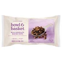 Bowl & Basket Baking Chips Milk Chocolate, 11.5 Ounce