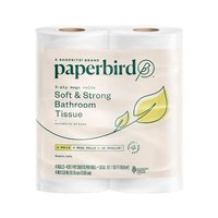 Paperbird Bathroom Tissue Rolls Soft & Strong, 4 Each