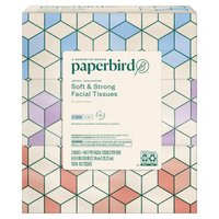 Paperbird White Unscented Soft & Strong Facial Tissues, 144 count, 3 pack