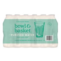 Bowl & Basket Purified Water, 16.9 fl oz, 24 count