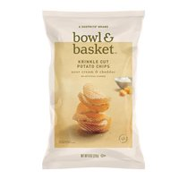 Bowl & Basket Sour Cream & Cheddar Krinkle Cut Potato Chips, 8 oz