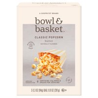 Bowl & Basket Butter Classic Popcorn, 3.3 oz, 3 count