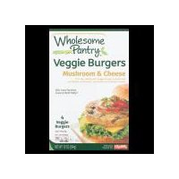 Wholesome Pantry Mushroom & Cheese Veggie Burgers, 4 Each