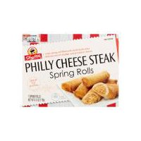 Crispy spring roll filled with sliced steak and delicious mix of cheddar and provolone cheeses. Great for parties.  (6.3 oz)