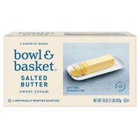 Bowl & Basket Sweet Cream Salted Butter, 4 count, 16 oz