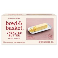 Bowl & Basket Sweet Cream Unsalted Butter, 4 count, 16 oz