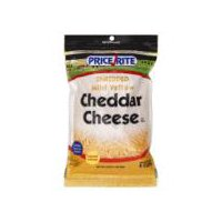PriceRite Shredded Mild Yellow Cheddar Cheese, 16 Ounce