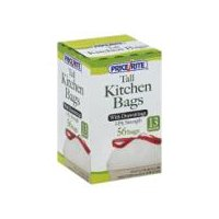 PriceRite Tall Kitchen Bags With Drawstrings, 56 Each