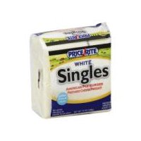 PriceRite Singles White American Pasteurized Cheese Product, 16 Each
