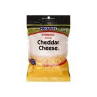 PriceRite Shredded Sharp Cheddar Cheese, 8 Ounce