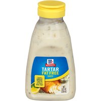 McCormick Fat Free Tartar Sauce complements the flavor of fish and other seafood.