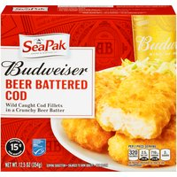SeaPak Pubstyle Beer Battered Cod, 12.5 Ounce