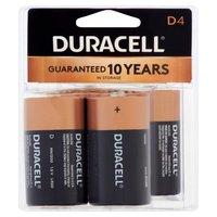 Duracell Batteries D 4 Pack, 4 Each