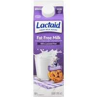 LACTAID Milk - Fat Free, 31.98 Fluid ounce