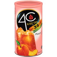 4C Iced Tea Mix - Peach Flavored, 82.6 Ounce