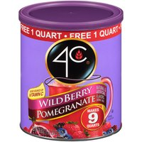 Makes 9 Quarts; Natural & Artificial Flavors Drink Mix; 1 Quart Free; Free Scoop Enclosed