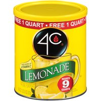 Makes 9 Quarts; Natural Flavors Drink Mix; 1 Quart Free; Free Scoop Enclosed