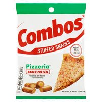 Crunchy oven baked pretzels with spicy cheese pizza flavored fillings create the perfect hunger management snack. Two hearty tastes, one filling snack. Enjoy the delicious taste of COMBOS Baked Snacks