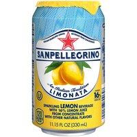 San Pellegrino Limonata Sparkling Lemon Beverage, 11.15 Fluid ounce