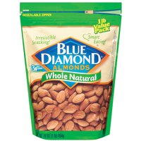 Blue Diamond Almonds Almonds - Whole Natural, 16 Ounce