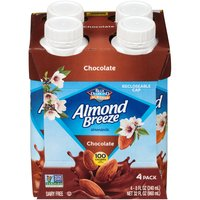 Blue Diamond Blue Diamond 4 Pack Almond Breeze Chocolate Almondmilk, 32 Fluid ounce
