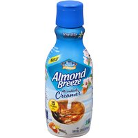 A delicious, dairy-free creamer for your coffee featuring the goodness of Almond Breeze. Smooth, thick & creamy with natural almond & vanilla flavor, low sugar & only 15 calories per serving.
