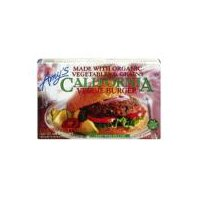 Frozen veggie burgers made with grains, organic vegetables, mushrooms, and walnuts. Vegan. Dairy free. Soy free. No cholesterol. Kosher. Non-GMO. Four patties per package.