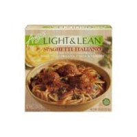 With meatless meatballs and organic pasta with vegetables.
