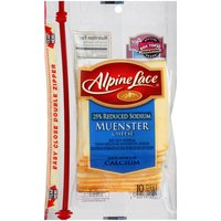 Alpine Lace Alpine Lace Reduced Sodium Muenster Cheese, 8 Ounce