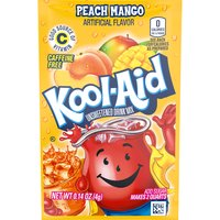 Kool-Aid Unsweetened Peach Mango Drink Mix, 0.14 Ounce