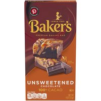 Baker's Unsweetened Baking Chocolate Bar, 4 Ounce