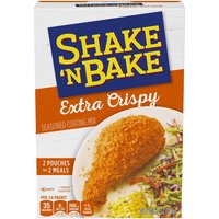 Kraft Shake 'N Bake Seasoned Coating Mix makes a wonderful addition to your pantry. Use it to add delicious flavoring to a variety of meals.