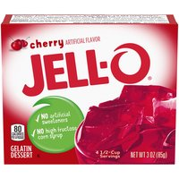 Jell-O Cherry Gelatin Mix, 3 Ounce