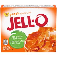 Jell-O Jell-O Peach Gelatin Dessert, 3 Ounce