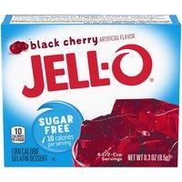 Jell-O Sugar-Free Black Cherry Gelatin Mix, 0.3 Ounce