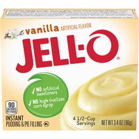 Jell-O Vanilla Instant Pudding Mix, 3.4 Ounce