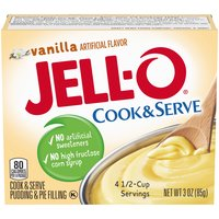 Jell-O Cook & Serve Vanilla Pudding & Pie Filling, 3 Ounce