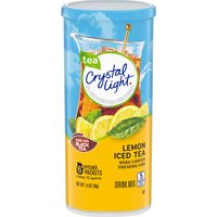 Crystal Light Lemon Iced Tea Drink Mix Pitcher Packets, 1.4 Ounce