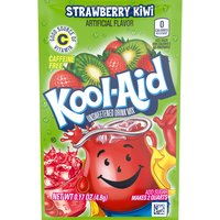 Kool-Aid Soft Drink Mix - Unsweetened Strawberry Kiwi, 0.17 Ounce