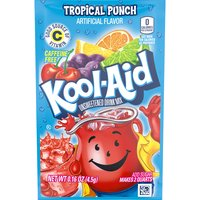 Kool-Aid Unsweetened Soft Drink Mix - Tropical Punch, 4.5 Gram