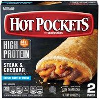 HOT POCKETS Stuffed Sandwiches - Steak & Cheddar, 9 Ounce