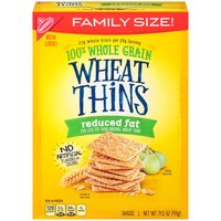 Discover the delicious 100% whole grain crunch of Reduced Fat Wheat Thins snacks. Reduced Fat Wheat Thins are toasted instead of fried and contain 30% less fat than original Wheat Thins.
