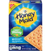 Honey Maid Low Fat Graham Crackers are made with real honey and contain no high-fructose corn syrup, saturated fat, or cholesterol. They're the perfect snack for at home or on the go.