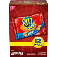 Tiny, bite-size versions of the Ritz Cracker Sandwiches you know and love. These crackers sandwich a mouthwatering cheese spread between two tiny, buttery Ritz Bitz crackers.