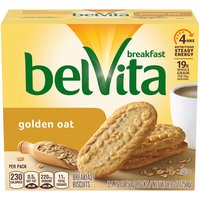Belvita Golden Oat Breakfast Biscuits are simple, crunchy biscuits made from wholesome, fine ingredients like rolled oats to help fuel your morning.