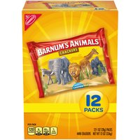 Barnum's Animal Crackers in the fun circus-themed box were introduced in 1902. Barnum's are low in saturated fat and are cholesterol free, and they are also a good source of calcium.