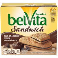 Belvita Sandwich Dark Chocolate Creme Breakfast Biscuits, 8.8 Ounce
